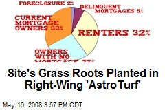 Site's Grass Roots Planted in Right-Wing 'AstroTurf'