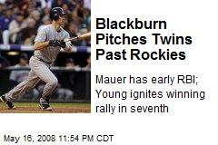 Blackburn Pitches Twins Past Rockies