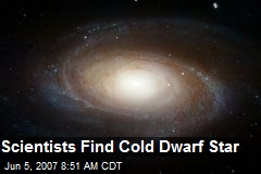 Scientists Find Cold Dwarf Star