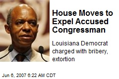 House Moves to Expel Accused Congressman