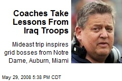 Coaches Take Lessons From Iraq Troops