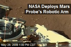 NASA Deploys Mars Probe's Robotic Arm