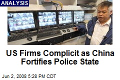 US Firms Complicit as China Fortifies Police State