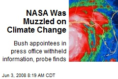 NASA Was Muzzled on Climate Change