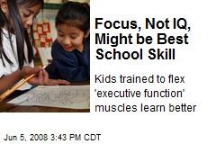 Focus, Not IQ, Might be Best School Skill