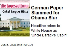German Paper Slammed for Obama Slur