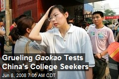 Grueling Gaokao Tests China's College Seekers