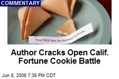 Author Cracks Open Calif. Fortune Cookie Battle