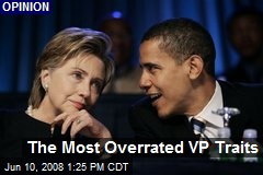 The Most Overrated VP Traits