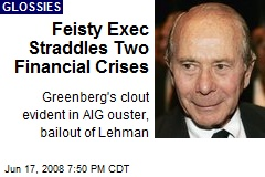Feisty Exec Straddles Two Financial Crises