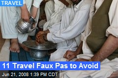 11 Travel Faux Pas to Avoid
