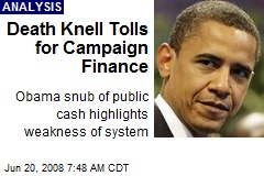 Death Knell Tolls for Campaign Finance