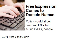 Free Expression Comes to Domain Names