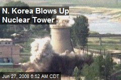 N. Korea Blows Up Nuclear Tower