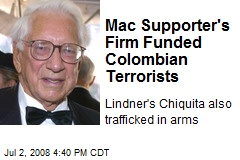 Mac Supporter's Firm Funded Colombian Terrorists