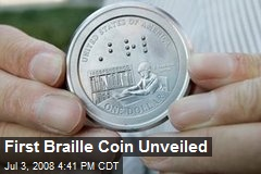 First Braille Coin Unveiled