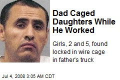 Dad Caged Daughters While He Worked