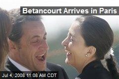 Betancourt Arrives in Paris