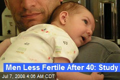 Men Less Fertile After 40: Study