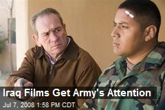 Iraq Films Get Army's Attention