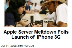 Apple Server Meltdown Foils Launch of iPhone 3G