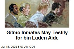 Gitmo Inmates May Testify for bin Laden Aide