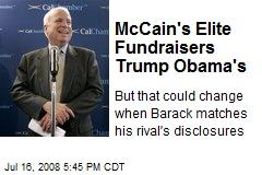McCain's Elite Fundraisers Trump Obama's