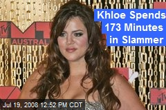 Khloe Spends 173 Minutes in Slammer