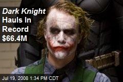 Dark Knight Hauls In Record $66.4M