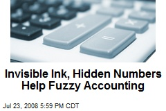 Invisible Ink, Hidden Numbers Help Fuzzy Accounting