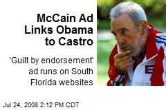 McCain Ad Links Obama to Castro