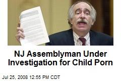 NJ Assemblyman Under Investigation for Child Porn