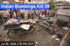 Indian Bombings Kill 29