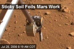 Sticky Soil Foils Mars Work