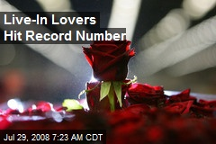 Live-In Lovers Hit Record Number
