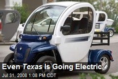 Even Texas Is Going Electric