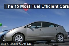 The 15 Most Fuel Efficient Cars