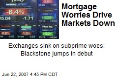 Mortgage Worries Drive Markets Down