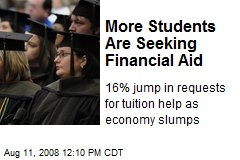 More Students Are Seeking Financial Aid