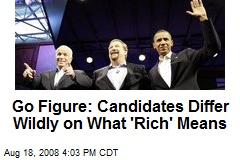 Go Figure: Candidates Differ Wildly on What 'Rich' Means