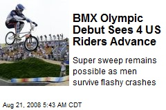 BMX Olympic Debut Sees 4 US Riders Advance