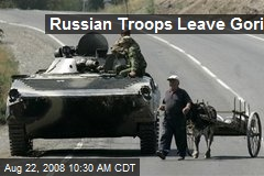 Russian Troops Leave Gori