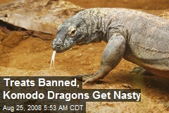 Treats Banned, Komodo Dragons Get Nasty