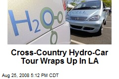 Cross-Country Hydro-Car Tour Wraps Up In LA