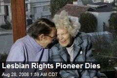 Lesbian Rights Pioneer Dies