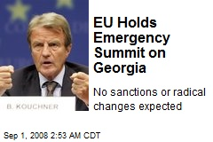 EU Holds Emergency Summit on Georgia