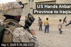 US Hands Anbar Province to Iraqis