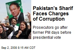 Pakistan's Sharif Faces Charges of Corruption