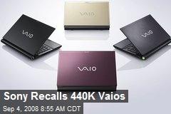 Sony Recalls 440K Vaios