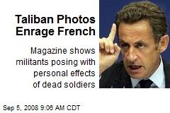 Taliban Photos Enrage French